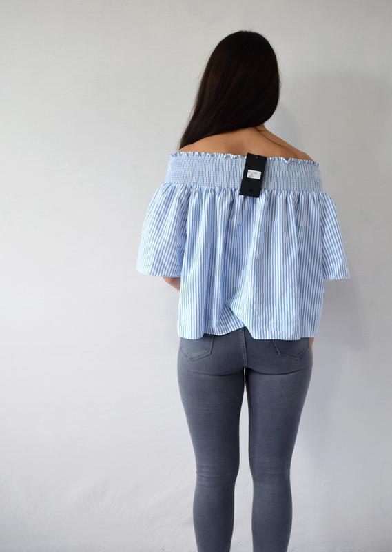 Блуза с открытыми плечами (новая, с биркой) - Фото 3