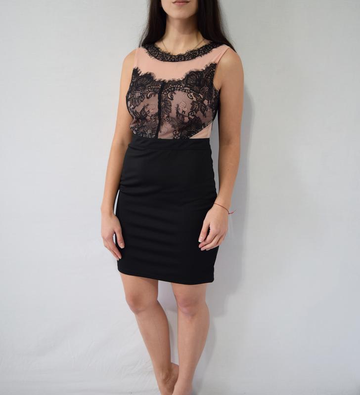 Платье с кружевом boohoo night (новое, с биркой) - Фото 3