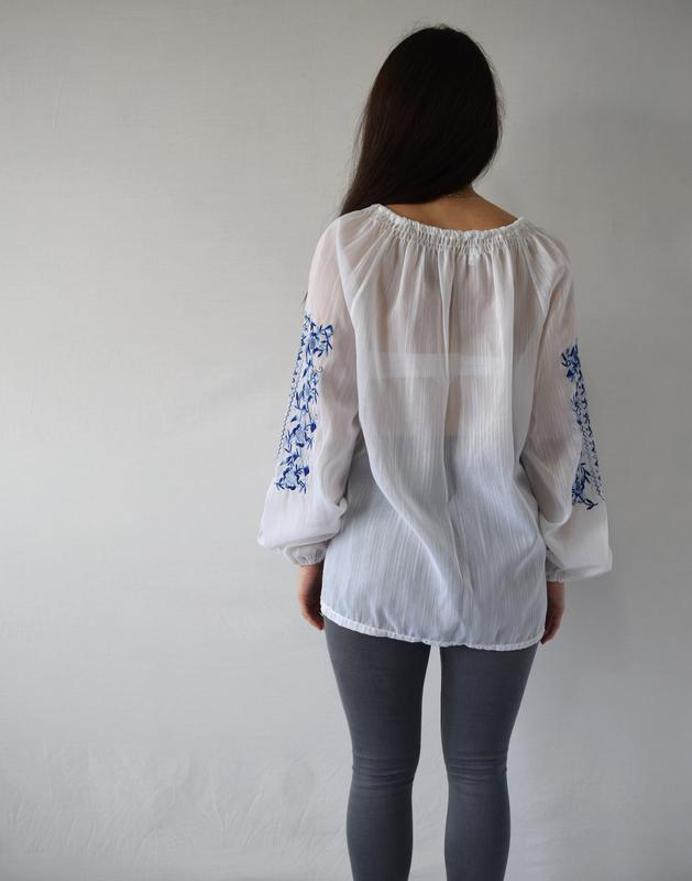 Блузка с вышивкой - Фото 4