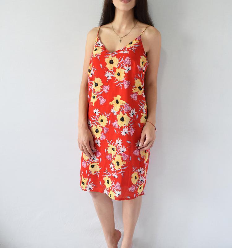 Платье в цветы h&m - Фото 2