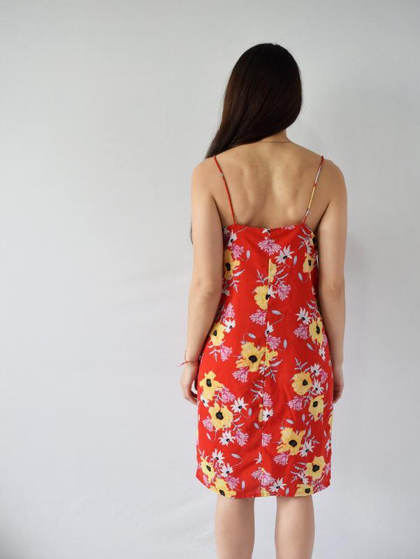 Платье в цветы h&m - Фото 3