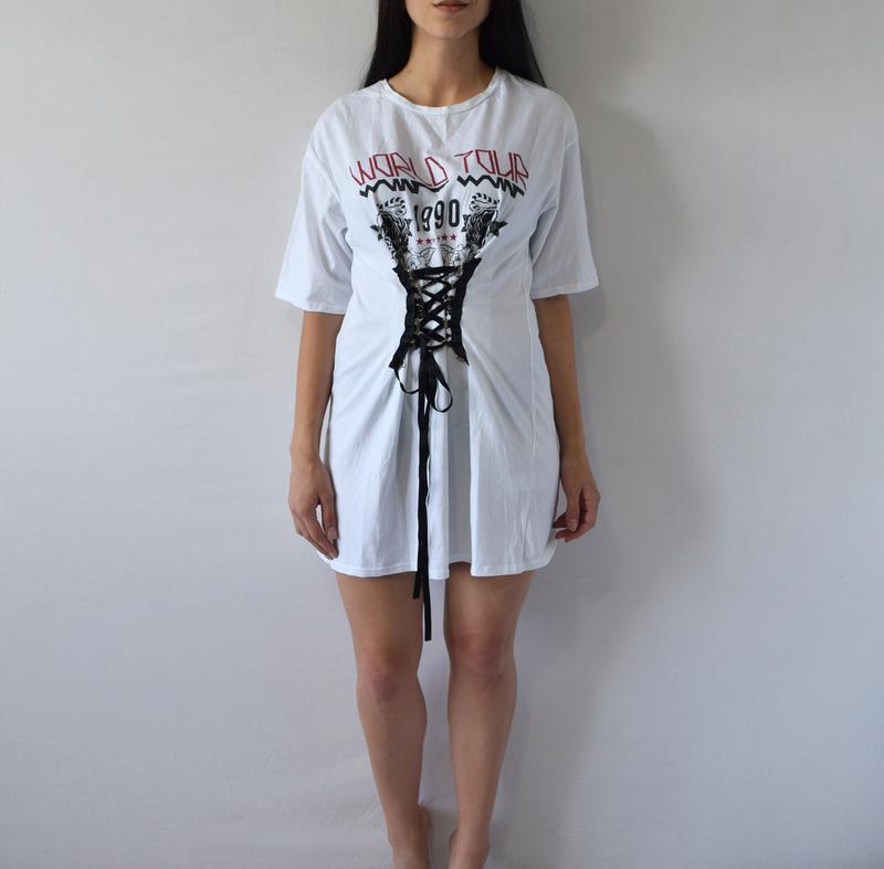 Удлиненная футболка с шнуровкой river island