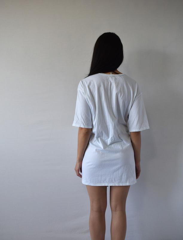 Удлиненная футболка с шнуровкой river island - Фото 3