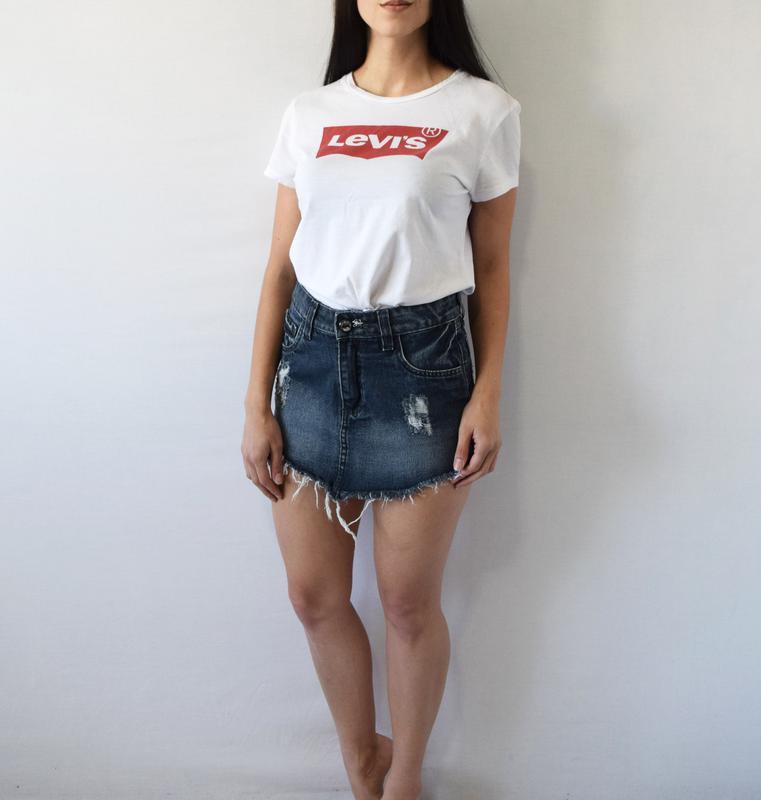Джинсовая юбка tnw - Фото 2