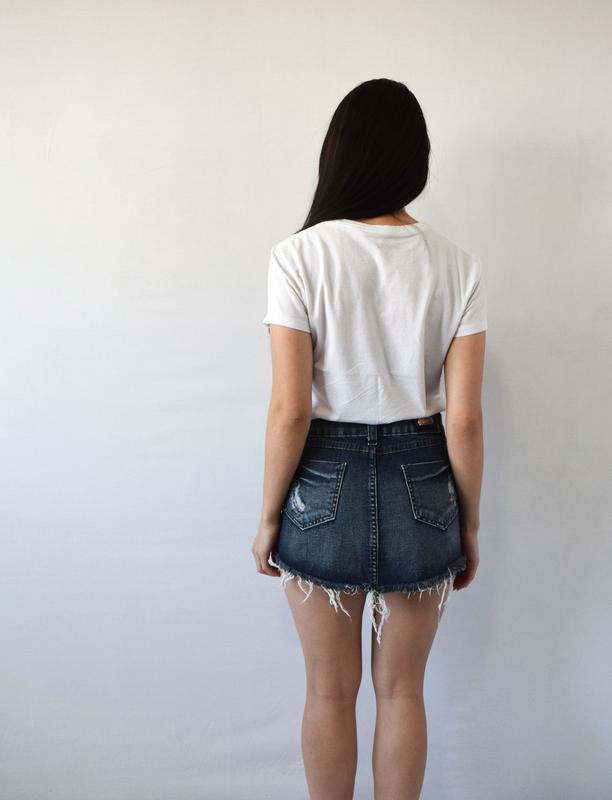 Джинсовая юбка tnw - Фото 3