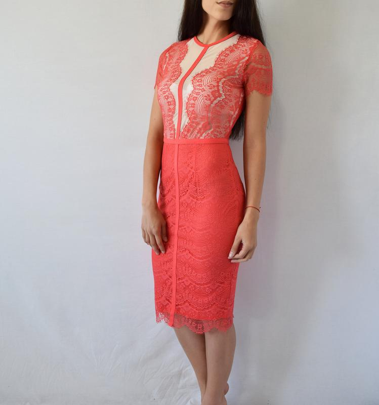 Платье с кружевом missguided - Фото 4