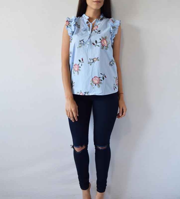 Блуза в цветы m&s