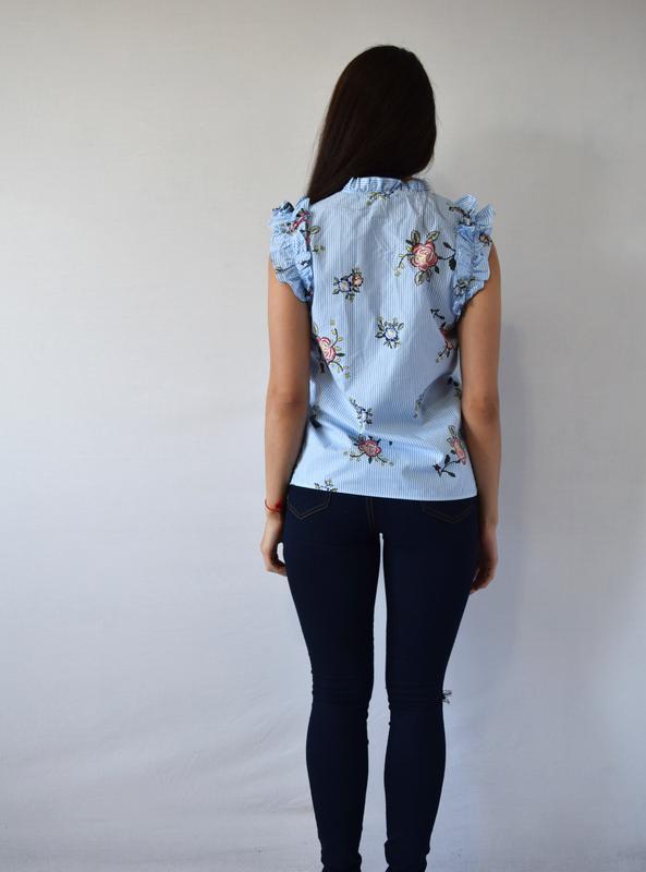 Блуза в цветы m&s - Фото 3