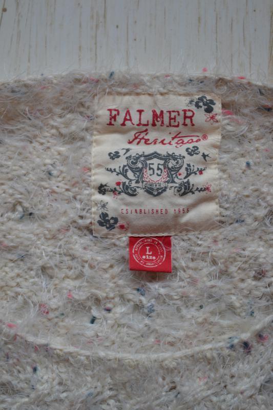 Мягкая ажурная кофта джемпер falmer heritage - Фото 4