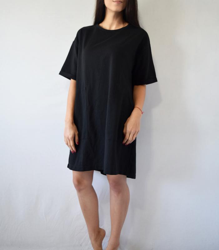Платье zara с карманами - Фото 2