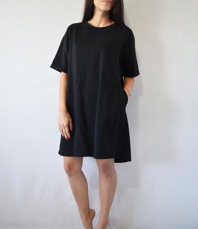 Платье zara с карманами - Фото 3