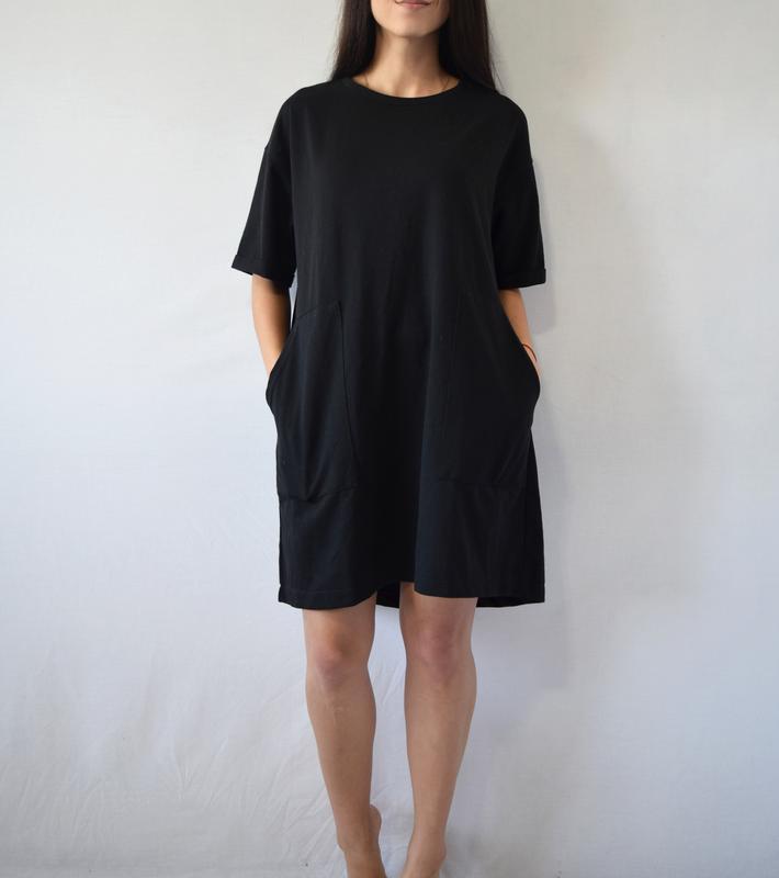 Платье zara с карманами - Фото 4