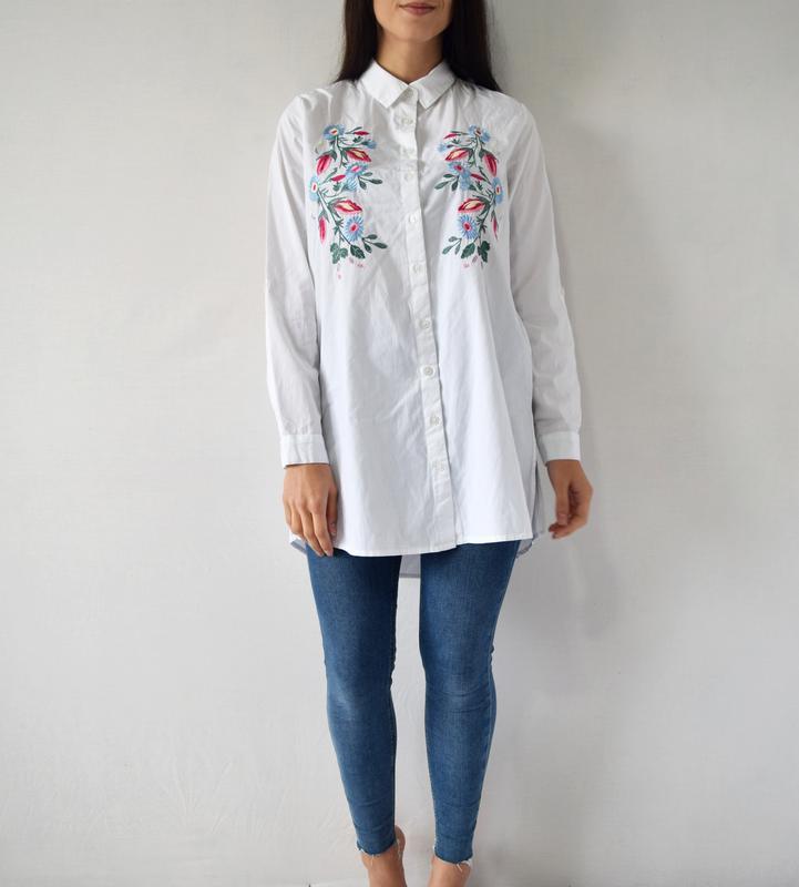 Удлиненная рубашка с вышивкой atm (новая, с биркой)
