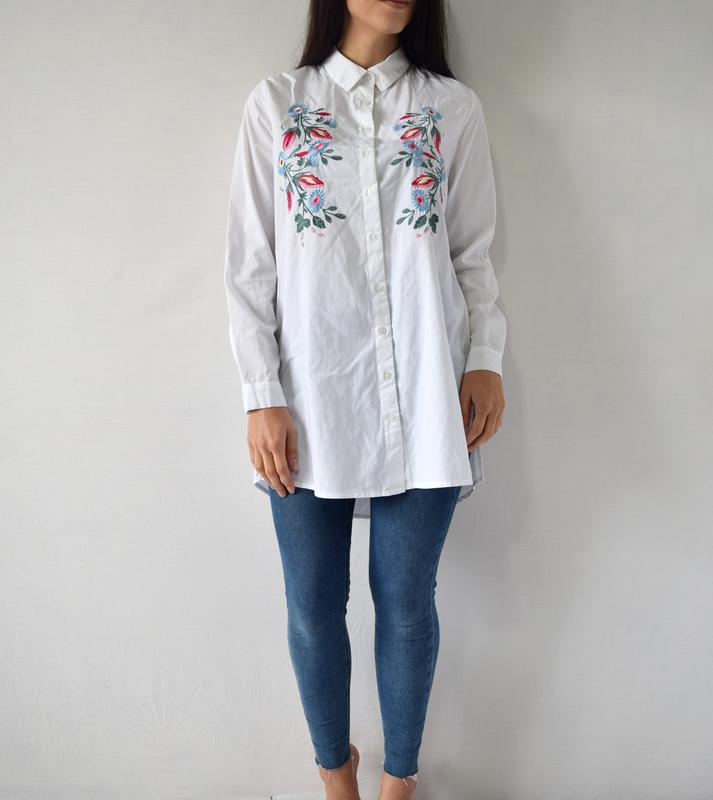 Удлиненная рубашка с вышивкой atm (новая, с биркой) - Фото 2