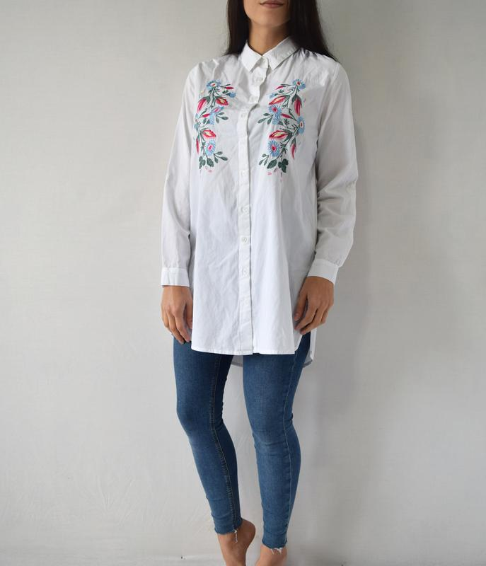 Удлиненная рубашка с вышивкой atm (новая, с биркой) - Фото 3