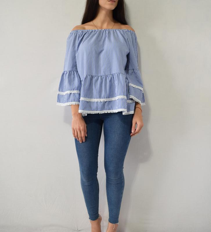 Блузка с воланами new look