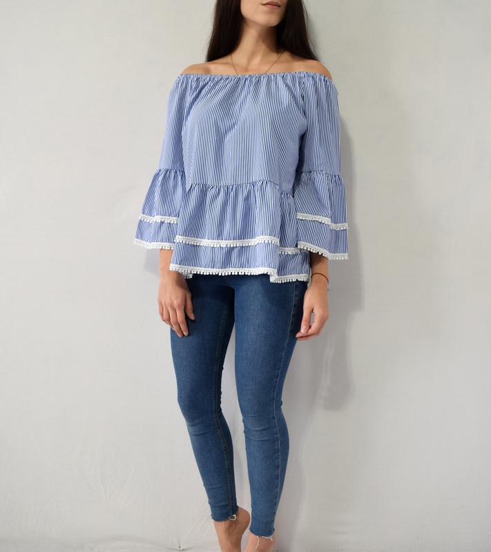 Блузка с воланами new look - Фото 2
