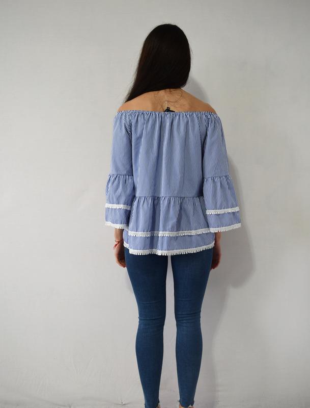 Блузка с воланами new look - Фото 3