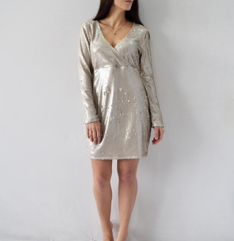 Платье в пайетки boohoo