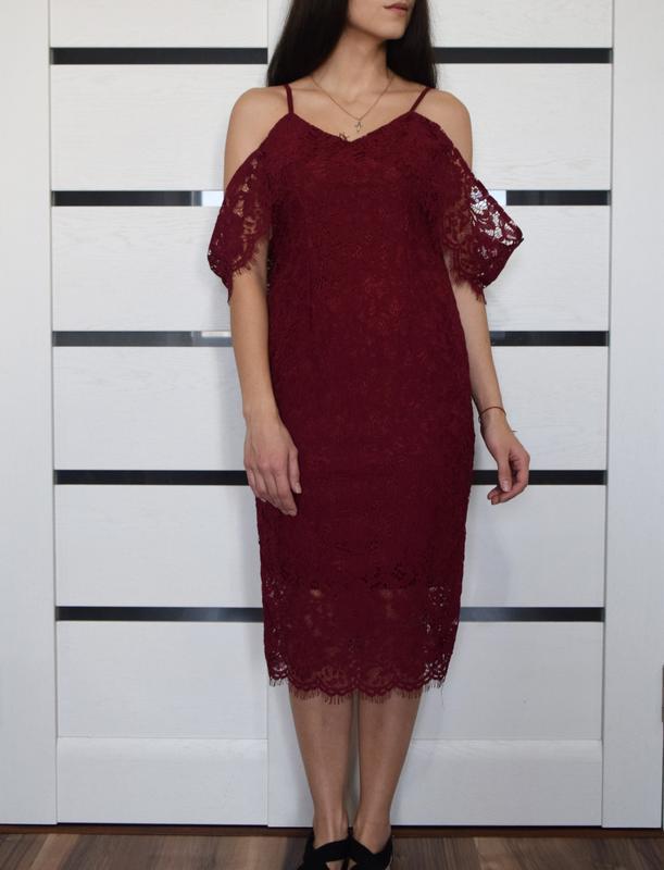 Кружевное платье boohoo (новое, с биркой) - Фото 4