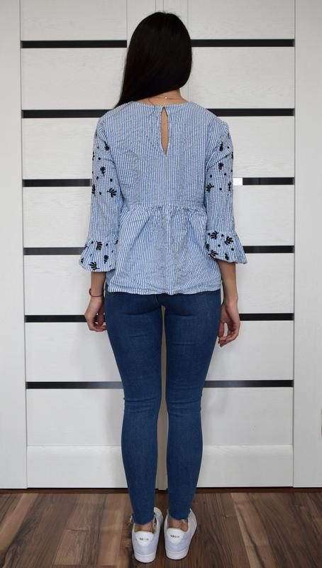 Блузка с вышивкой mango - Фото 3