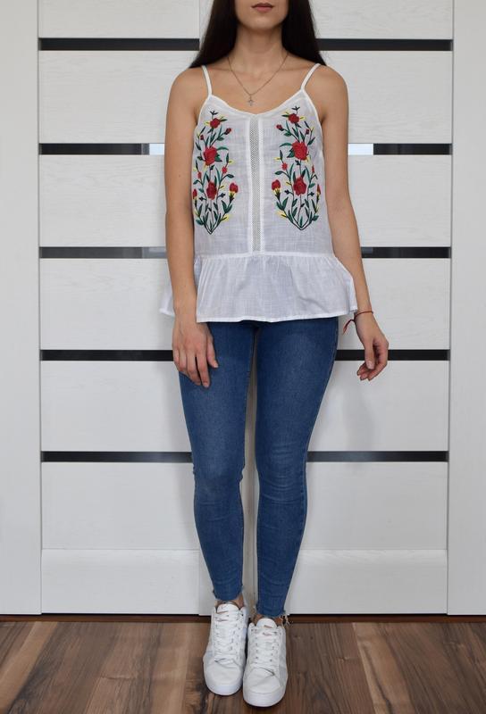 Блуза с вышивкой f&f