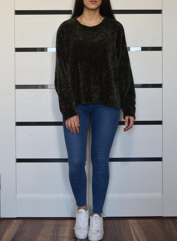Плюшевый свитер хаки new look - Фото 3