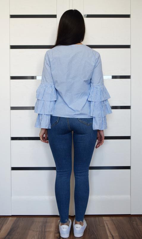 Блузка в полоску atm - Фото 3