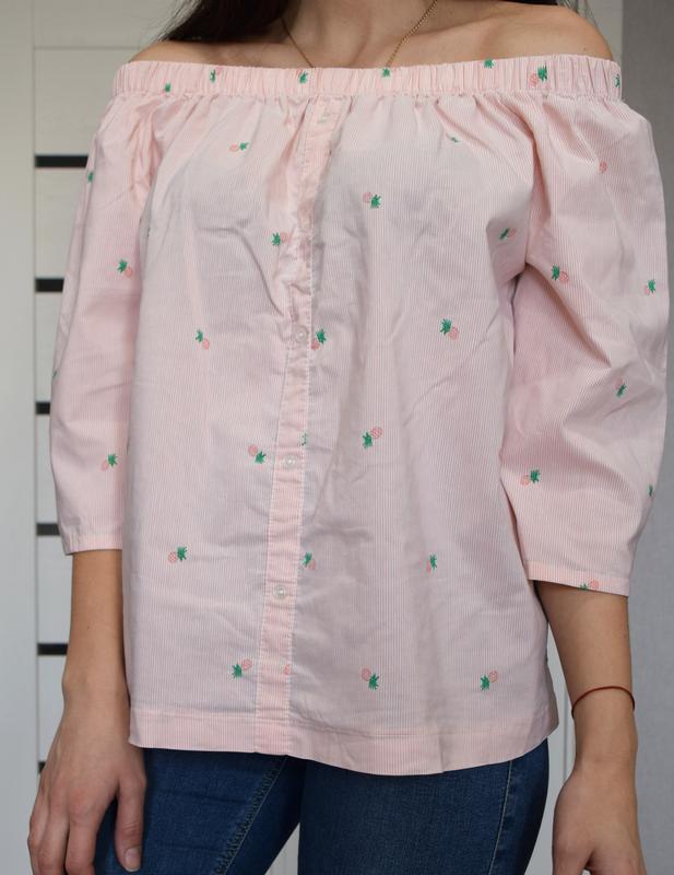 Блузка в ананасы atm - Фото 3