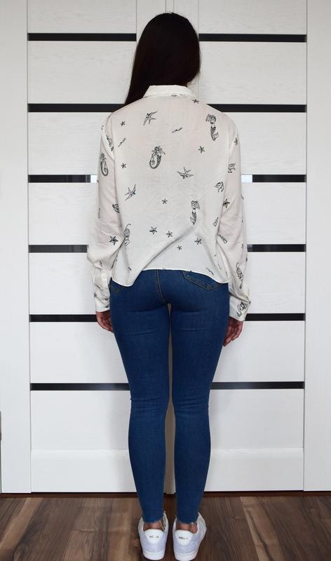 Блузка zara - Фото 4