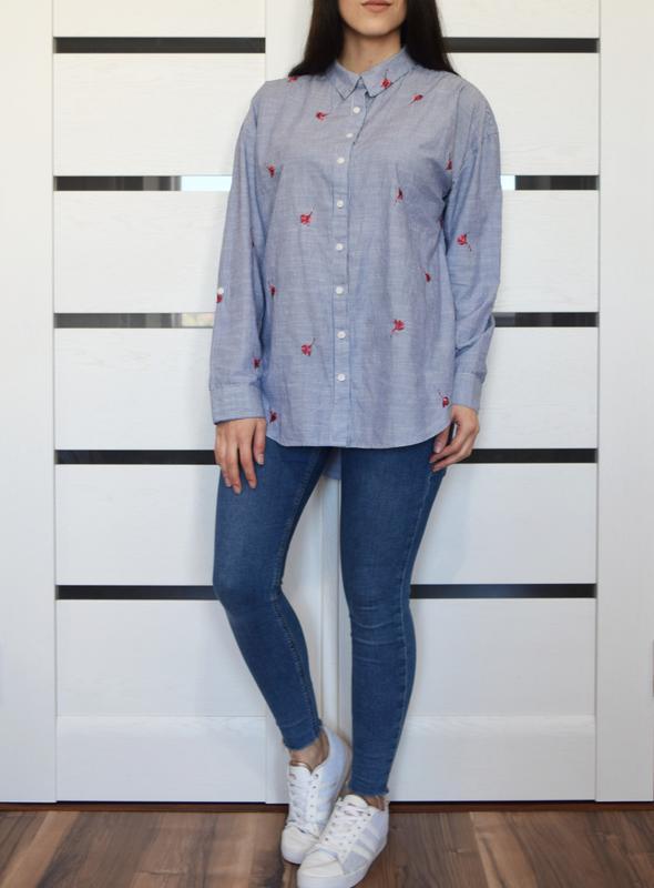Рубашка с вышивкой f&f - Фото 2