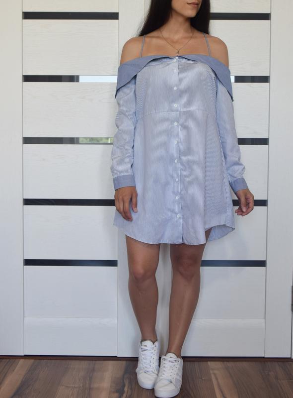Платье  в полоску topshop - Фото 2