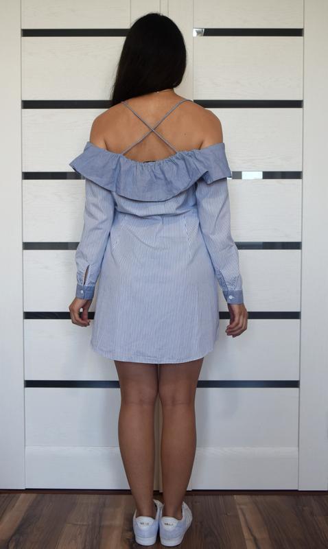 Платье  в полоску topshop - Фото 3