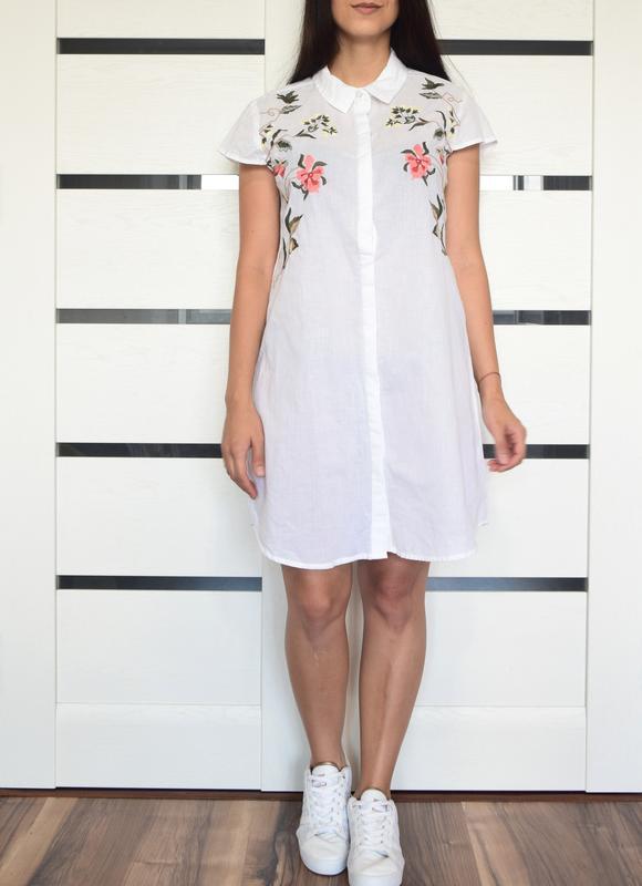 Платье с вышивкой atm