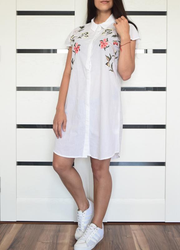 Платье с вышивкой atm - Фото 2