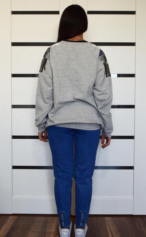 Свитшот с вышивкой m&s - Фото 3