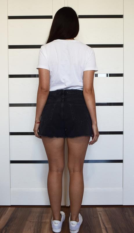 Джинсовые шорты с вышивкой denim co - Фото 3
