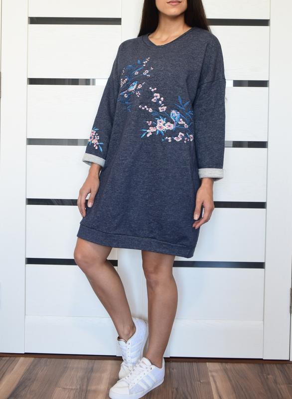 Платье с вышивкой  tu - Фото 2