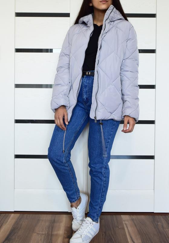 Лиловая стеганая куртка asos - Фото 4