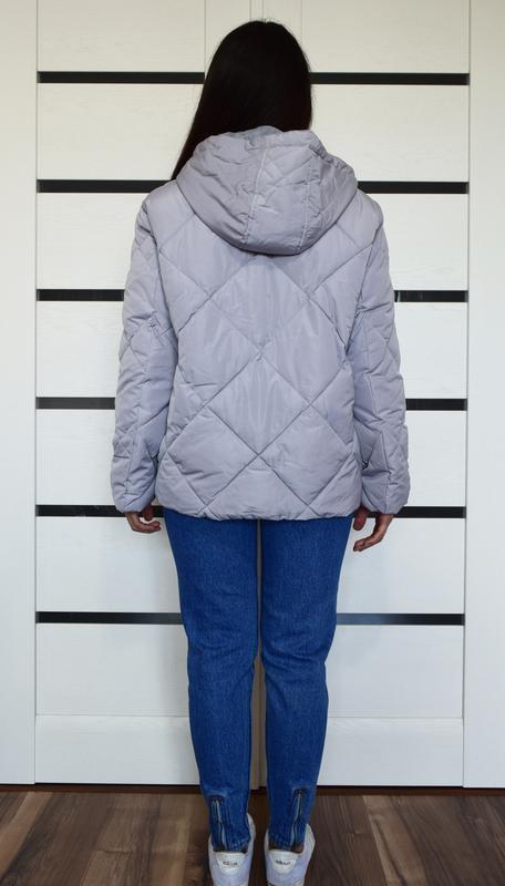 Лиловая стеганая куртка asos - Фото 6