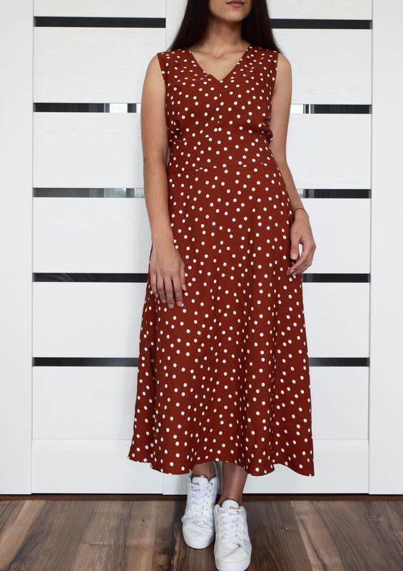 Платье в горох (новое, с биркой) warehouse