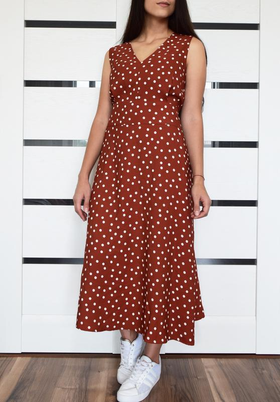 Платье в горох (новое, с биркой) warehouse - Фото 2