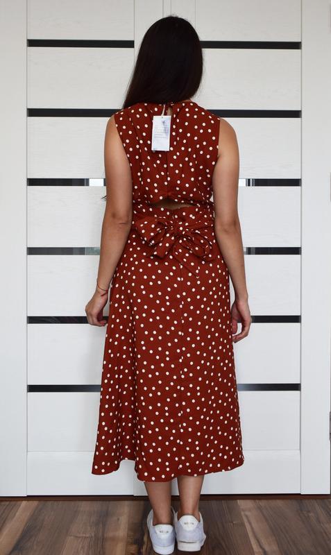 Платье в горох (новое, с биркой) warehouse - Фото 4