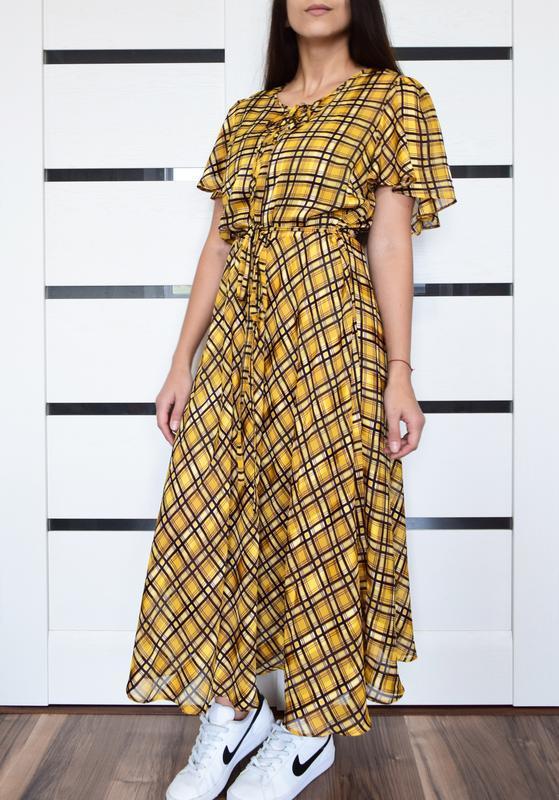 Платье в клетку (новое, с биркой) george - Фото 2
