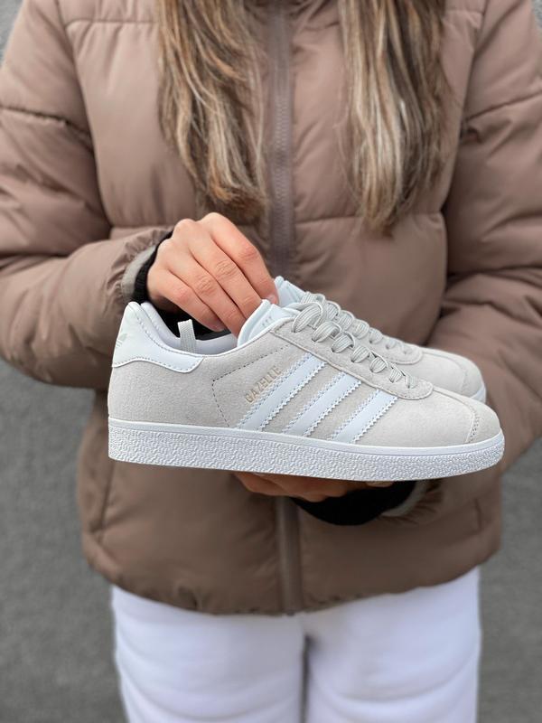 Adidas gazelle grey шикарные женские кроссовки адидас серые - Фото 2