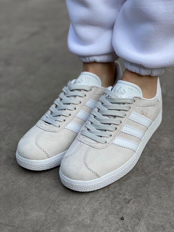 Adidas gazelle grey шикарные женские кроссовки адидас серые - Фото 6