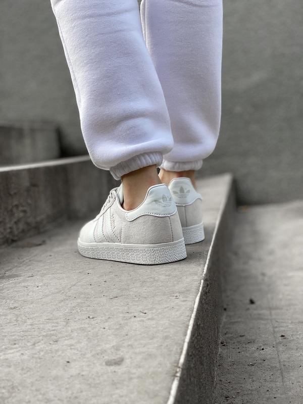 Adidas gazelle grey шикарные женские кроссовки адидас серые - Фото 8