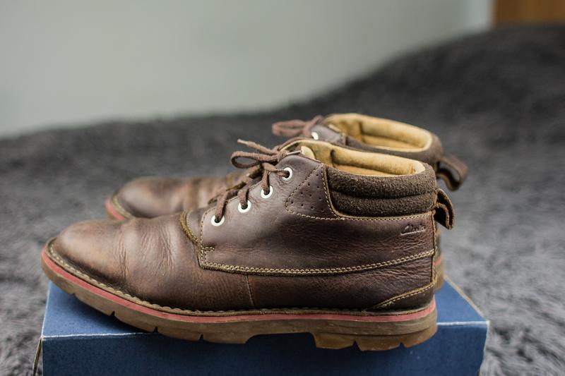 Мужские, кожаные ботинки clarks. демисезонные. - Фото 3
