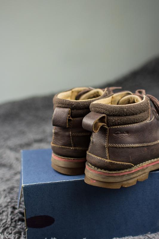 Мужские, кожаные ботинки clarks. демисезонные. - Фото 4