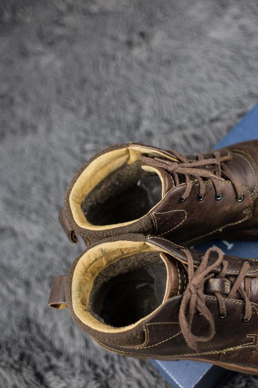 Мужские, кожаные ботинки clarks. демисезонные. - Фото 5